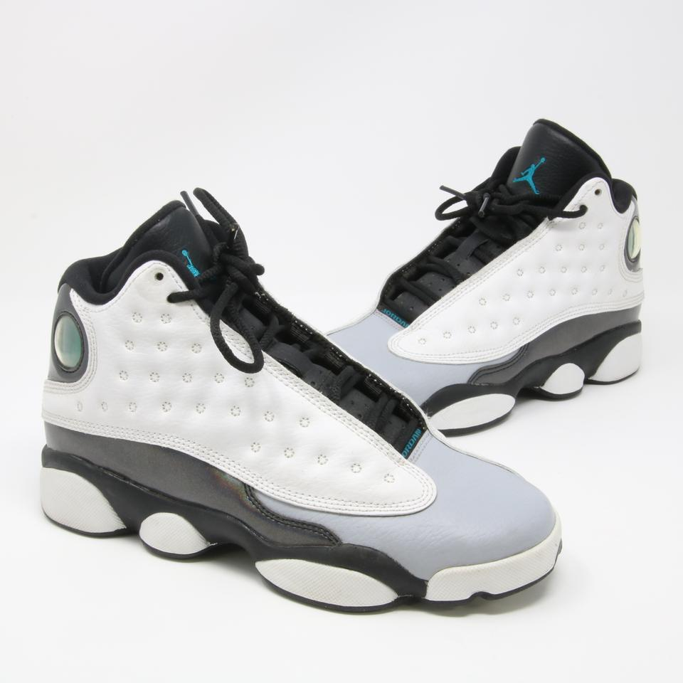 wholesale dealer f794b a8f94 Nike White Black Grey Signature Air Jordan 13 Retro Big Youth