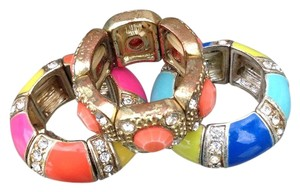 Macy's Macy's set of 3 colorful stack rings