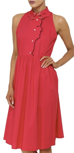Item - Red Lilian Embroidered In Mid-length Short Casual Dress Size 8 (M)