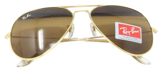 aa40e9b4dd8 Ray-Ban Signature Aviator RB3026 Gold Frame Brown Gradient Lenses 62mm  Image 0 ...