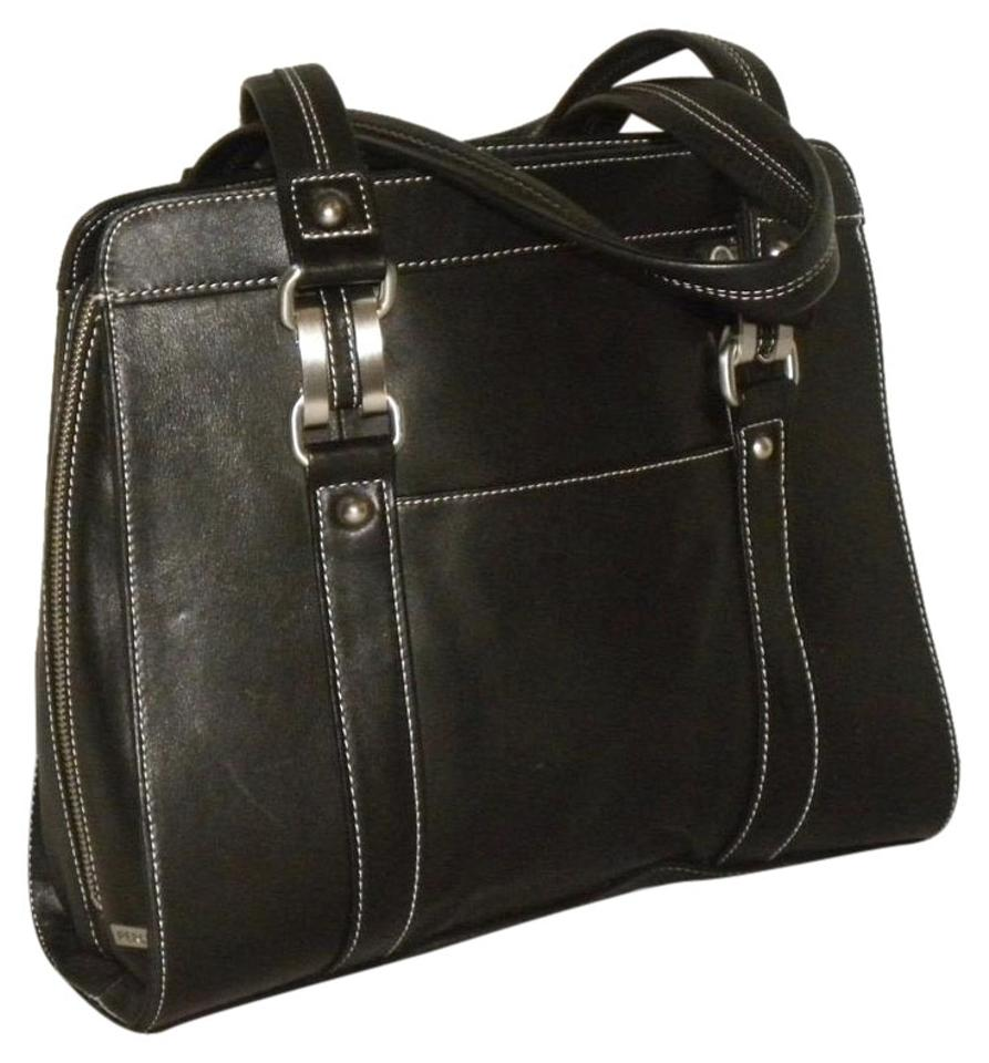 Perlina Leather Tote Business Laptop Bag