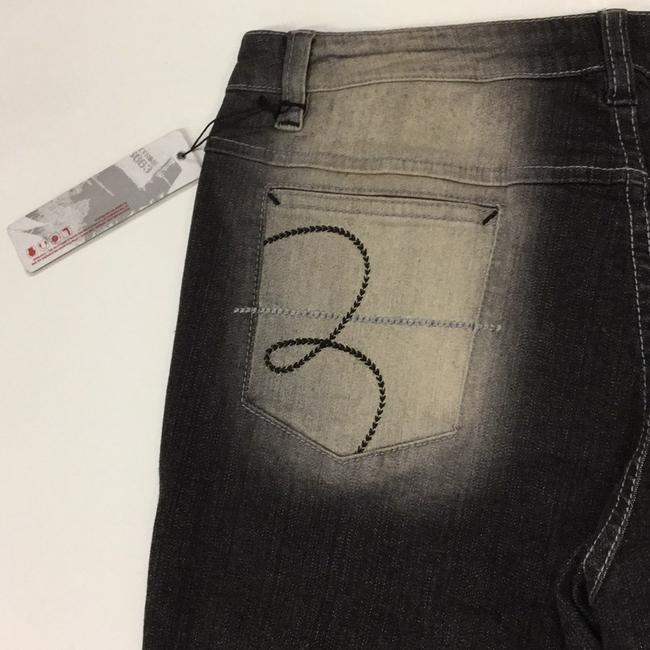 Lot#29 Straight Pants deep grey with multi hand painted Image 8