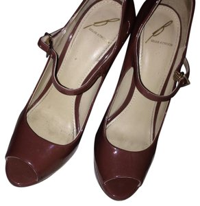 B Brian Atwood mocha/brown Platforms