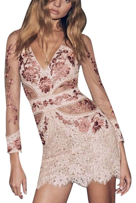 Item - Pink/White Mallorca Tulle Short Cocktail Dress Size 0 (XS)