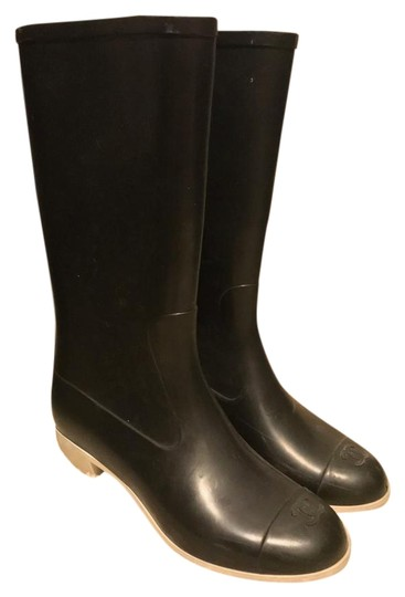 Chanel Classic Rubber Black Boots Image 0