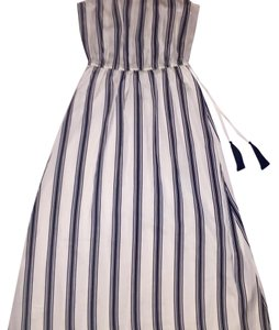 White with black stripes Maxi Dress by Ann Taylor LOFT