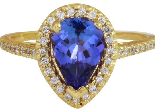 Preload https://img-static.tradesy.com/item/22249968/yellow-gold-150-carats-natural-tanzanite-and-diamond-14k-ring-0-1-540-540.jpg