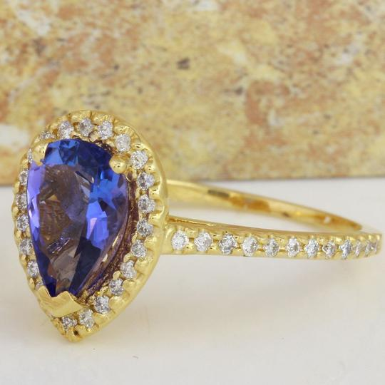 Other 1.50 Carats NATURAL TANZANITE and DIAMOND 14K Yellow Gold Ring Image 1