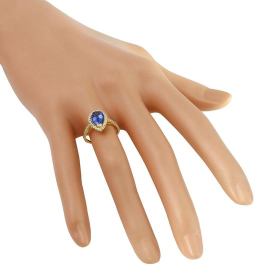 Other 1.50 Carats NATURAL TANZANITE and DIAMOND 14K Yellow Gold Ring Image 4