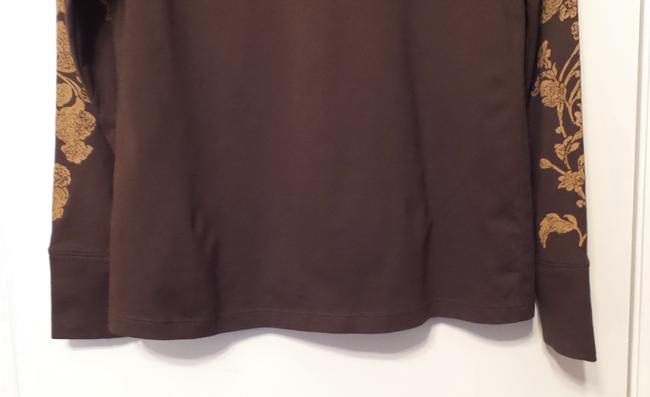 Peruvian Connection Print Knit Distressed Like New Top Brown, tan Image 2