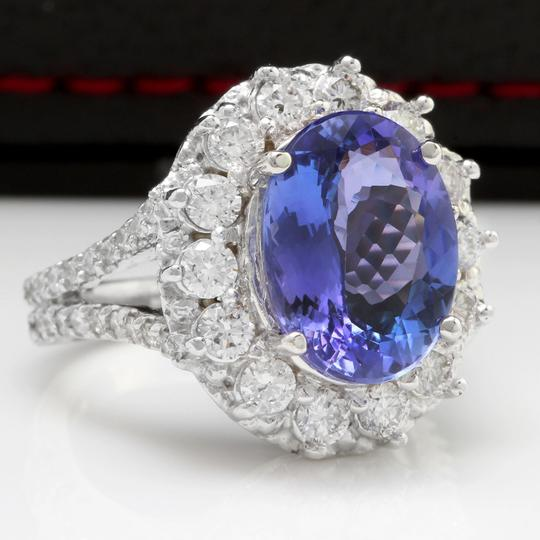 Other 5.91 Carats NATURAL TANZANITE and DIAMOND 14K White Gold Ring Image 1