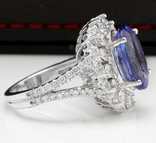 Other 5.91 Carats NATURAL TANZANITE and DIAMOND 14K White Gold Ring Image 2