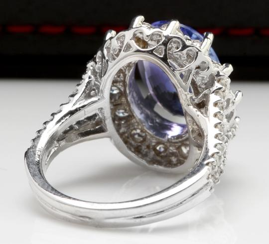 Other 5.91 Carats NATURAL TANZANITE and DIAMOND 14K White Gold Ring Image 3