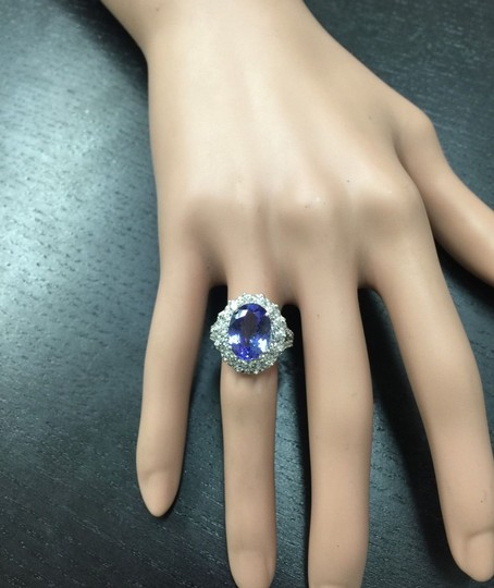 Other 5.91 Carats NATURAL TANZANITE and DIAMOND 14K White Gold Ring Image 5