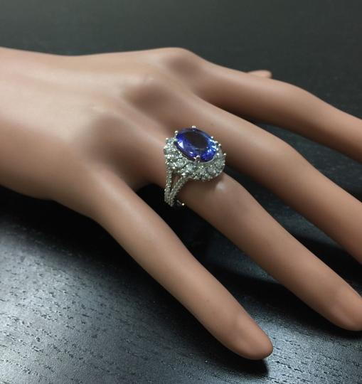Other 5.91 Carats NATURAL TANZANITE and DIAMOND 14K White Gold Ring Image 6