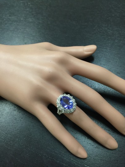 Other 5.91 Carats NATURAL TANZANITE and DIAMOND 14K White Gold Ring Image 7