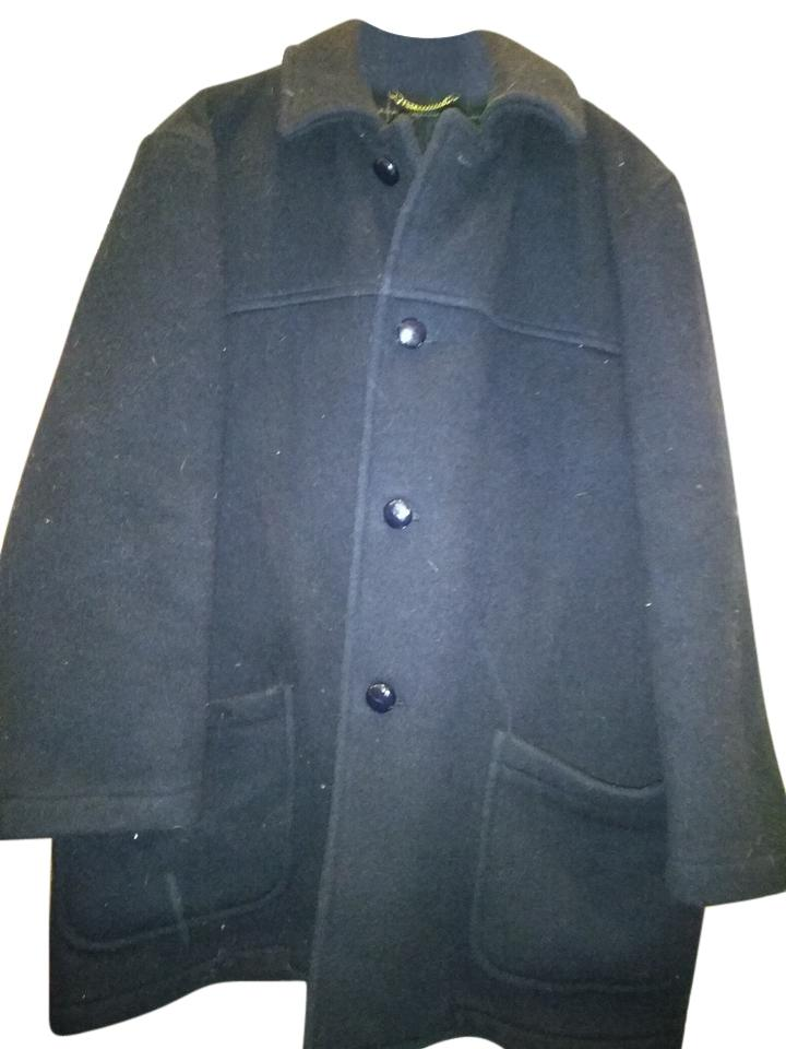 22064940439 Brooks Brothers Black Made In England Men s Winter Coat Size 12 (L ...