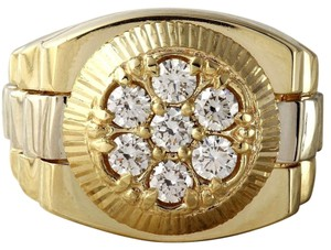 Other 1.25Ct Natural Diamond 14K Solid Yellow Gold Men's Ring