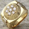 Other 1.25Ct Natural Diamond 14K Solid Yellow Gold Men's Ring Image 1