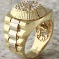 Other 1.25Ct Natural Diamond 14K Solid Yellow Gold Men's Ring Image 4