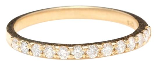 Other Splendid Natural Diamond 14K Solid Yellow Gold Band Ring Image 0