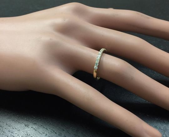 Other Splendid Natural Diamond 14K Solid Yellow Gold Band Ring Image 6