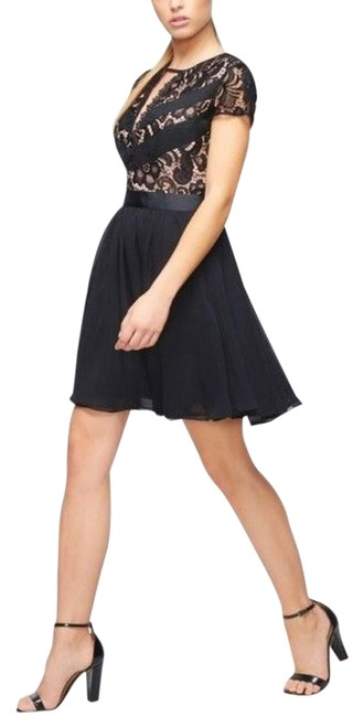 Item - Black Lace Party Short Night Out Dress Size 6 (S)