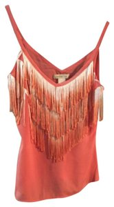 Arden b Fringe Ombre Top Coral