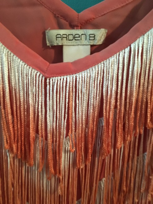 Arden b Fringe Ombre Top Coral Image 1