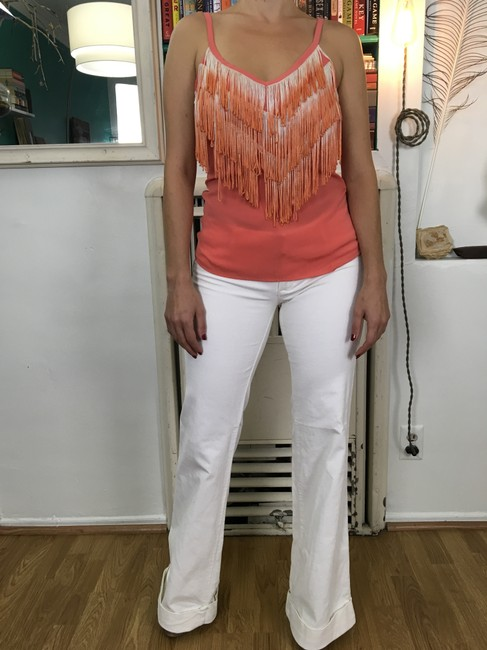 Arden b Fringe Ombre Top Coral Image 2