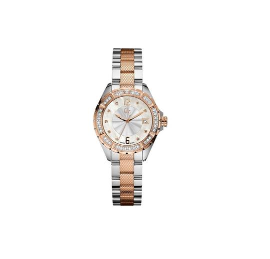 Preload https://img-static.tradesy.com/item/22250331/guess-collection-ladies-stainless-and-rosegold-35-diamond-a70105l1-watch-0-0-540-540.jpg
