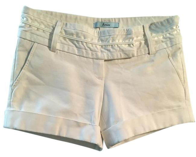 Marciano Gold Embellishments Sophisticated Mini/Short Shorts White Image 0