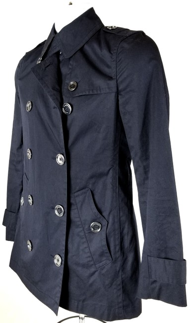Burberry Brit Double Breasted Trench Coat Image 4