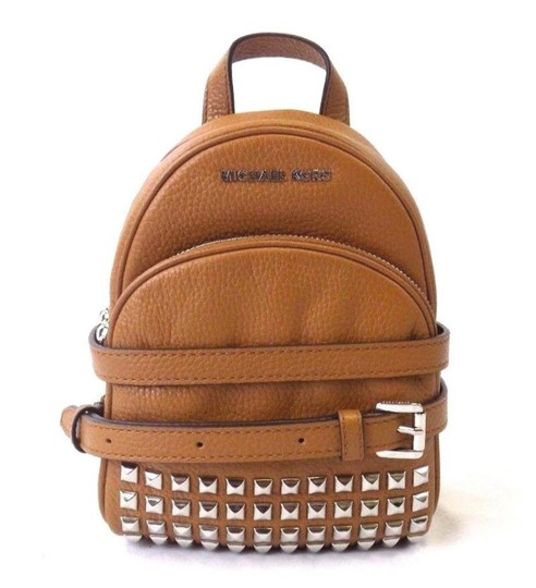 Preload https://img-static.tradesy.com/item/22250501/michael-kors-extra-small-studded-abbey-acorn-leather-backpack-0-0-540-540.jpg