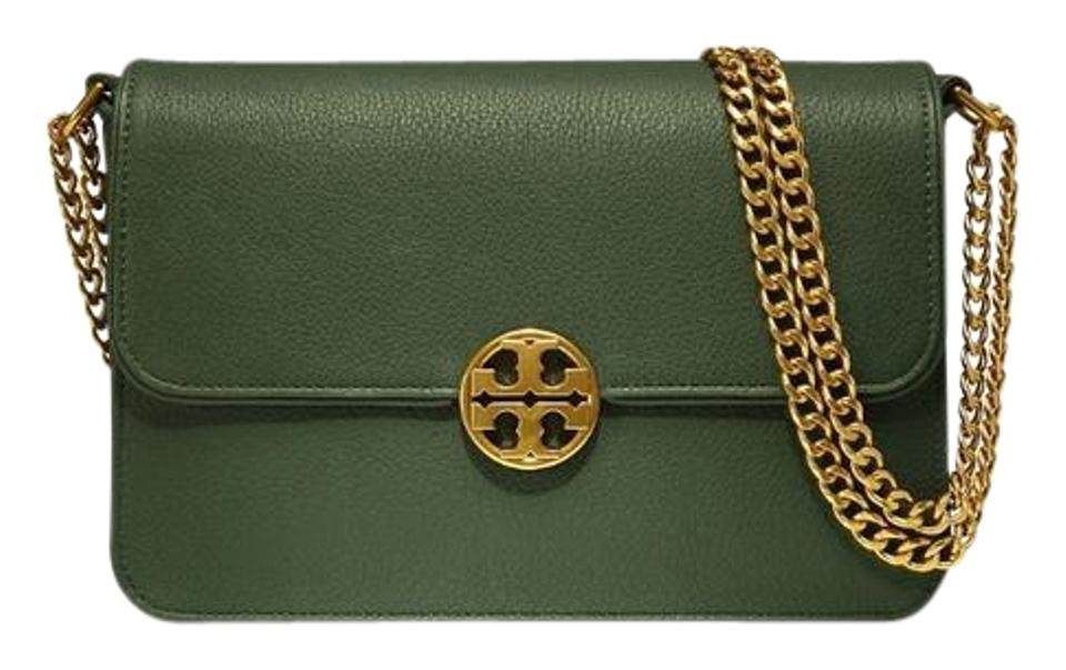 169bdef1f82 Tory Burch Selva Chelsea Green Leather Shoulder Bag - Tradesy