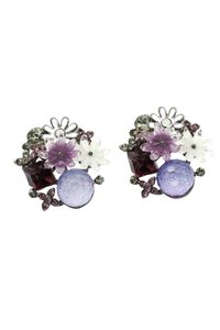 Ocean Fashion Lovely purple crystal flower earrings