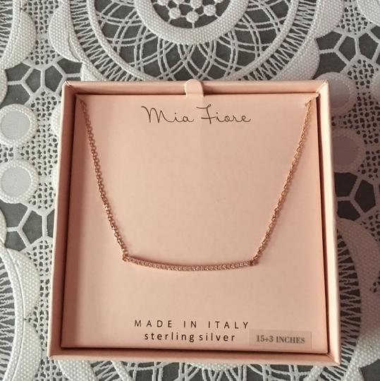 Mia Fiore NWT rose gold bar necklace Image 1