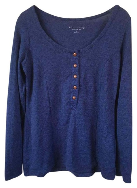 Preload https://img-static.tradesy.com/item/22250956/soft-surroundings-cobalt-blue-madeline-long-sleeve-henley-in-heather-sweaterpullover-size-6-s-0-1-650-650.jpg