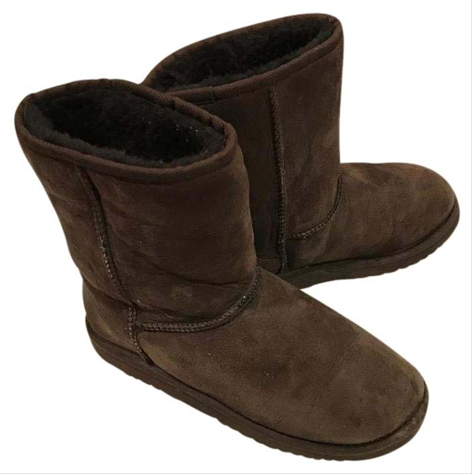 ca8bf5b8fd2 UGG Australia Dark Brown Uggs Chocolate Leather Woman Style 5251  Boots/Booties Size US 6 Regular (M, B) 67% off retail