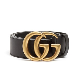 06c9a576fec Gucci Black Size 90 36 Gg-logo Leather Belt - Tradesy