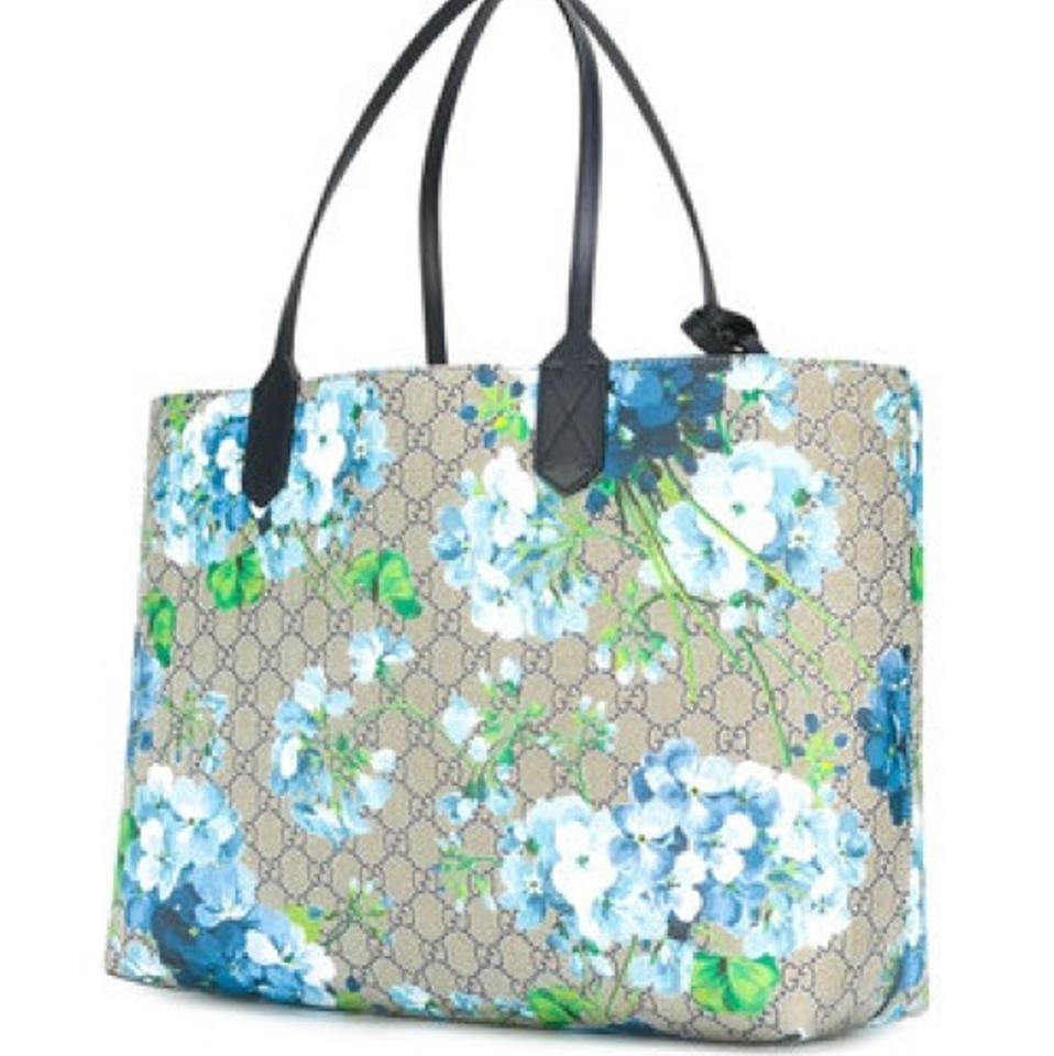628135d9918ee Gucci Blooms Large Blue Tote - Tradesy