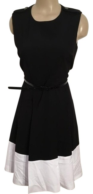 Preload https://img-static.tradesy.com/item/22251285/calvin-klein-black-and-white-cotton-mid-length-workoffice-dress-size-8-m-0-1-650-650.jpg