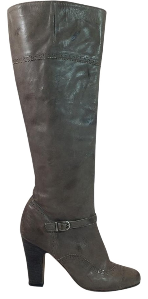 Brown Boots/Booties Heeled Knee Boots/Booties Brown 4dcf1e