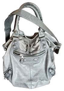 e1adc4dfde Balenciaga Giant Pompon 2way Grey Lambskin Leather Cross Body Bag ...