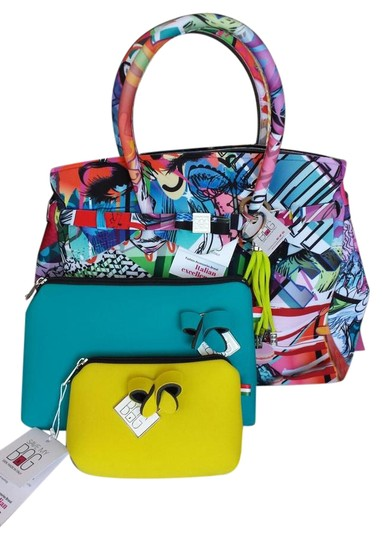Preload https://img-static.tradesy.com/item/22251489/multi-colored-polyurethane-satchel-0-2-540-540.jpg