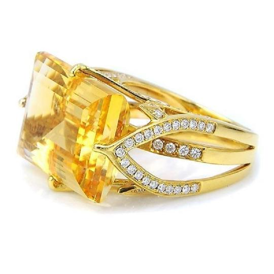 SWD Citrine and Fashion Diamond Ring Image 0