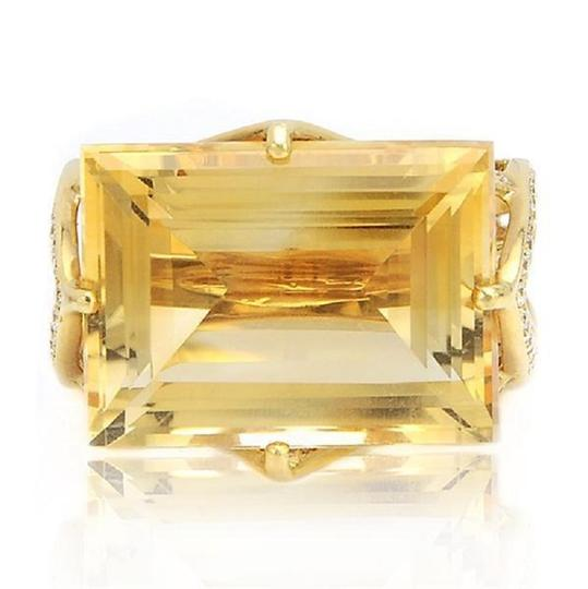 SWD Citrine and Fashion Diamond Ring Image 1