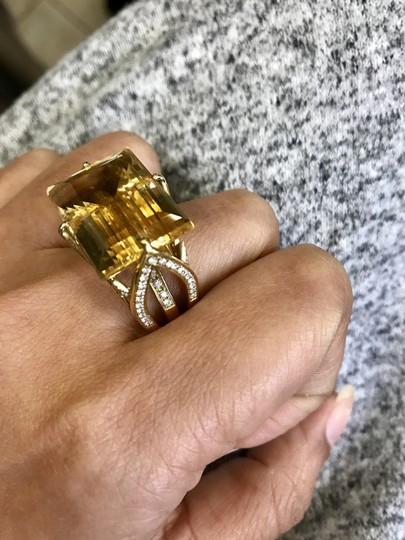 SWD Citrine and Fashion Diamond Ring Image 2