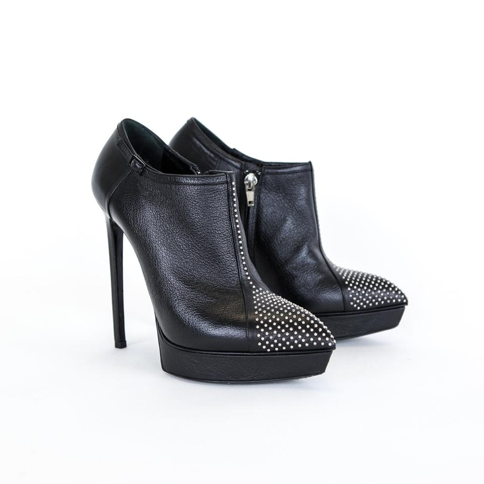 8494bea50e2 Saint Laurent Black Janis Studded Ankle Boots/Booties Size EU 38.5 (Approx.  US 8.5) Regular (M, B) 73% off retail