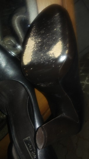 Calvin Klein Collection Black with DK. Brown Pumps Image 3